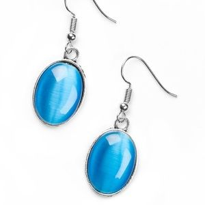 Paparazzi moonstone blue earrings